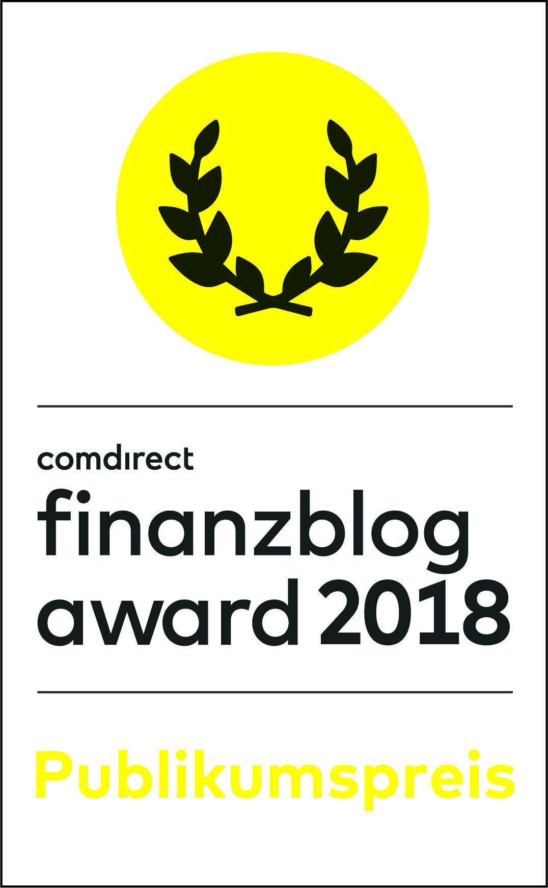 FinanzblogAward #fba18 – Du entscheidest über die Siegprämie