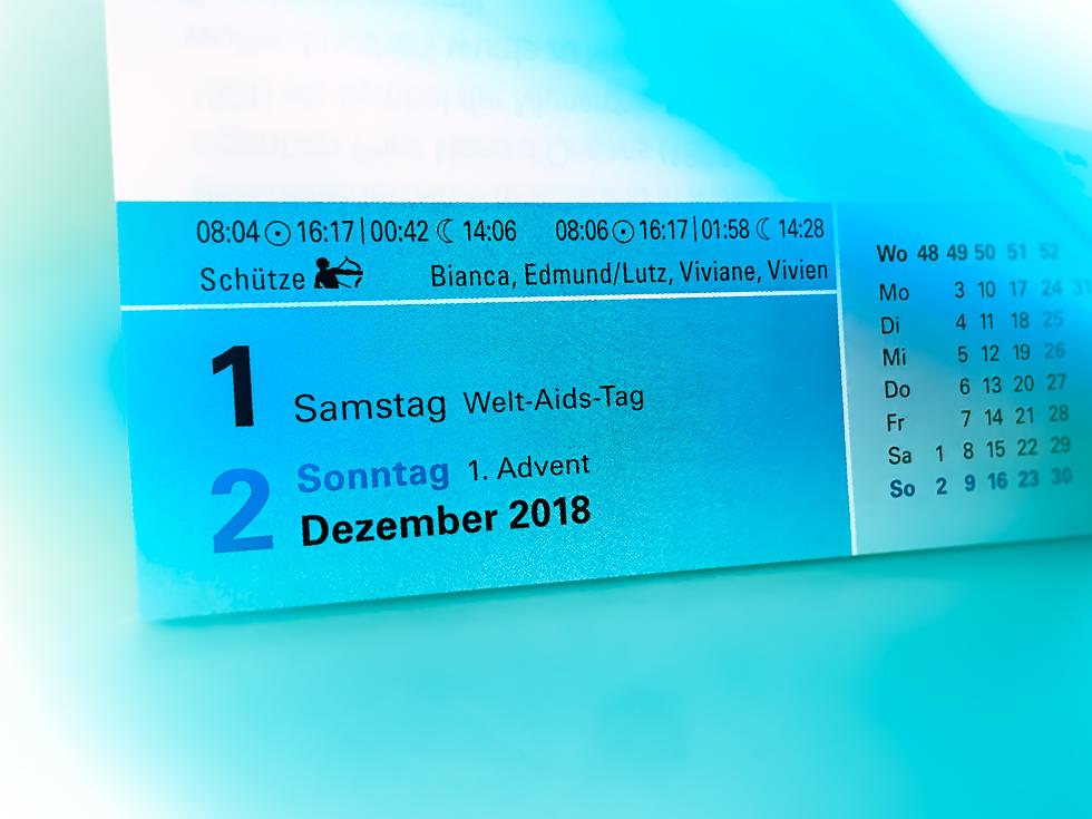 Monatswechsel November/Dezember 2018
